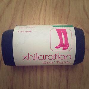 Xhilaration Girls' Tights Charcoal Gray Size 4-6